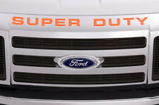 Super Duty Vinyl Inserts Grille Decals For Ford F250 F350 F450 2008-2016 ORANGE
