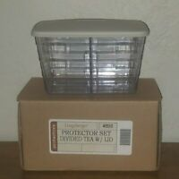 Longaberger Tea Basket DIVIDED PROTECTOR with Lid ~ New in Box ~ FREE SHIPPING!