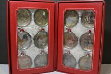 Pottery Barn 12 Days Of Christmas Holiday Ornament Set EXCELLENT