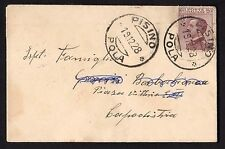 STORIA POSTALE Occupazioni 1928 Biglietto da Pisino a Capodistria (FSE)