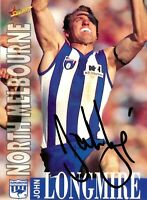 ✺Signed✺ 1996 NORTH MELBOURNE KANGAROOS AFL Premiers Card JOHN LONGMIRE