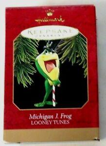 Michigan J Frog Looney Tunes 1997 Hallmark Keepsake Ornament NIB