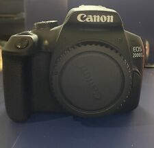 Used Canon EOS 2000D 24.1 MP Digital SLR Camera (Body Only) with battery Charger