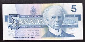 CANADA 5 DOLLARS CIRCULATED 1986
