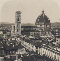 Firenze Il Duomo Vista Generale Italia Stereo Vintage Analogica Ca 1920