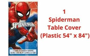 SPIDERMAN PARTY SUPPLIES NAPKINS PLATES TABLECOVER BANNER