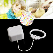 Pull String Cord Music Box White Baby Bed Bell Kids Toy Random Songs