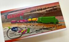 T Gauge EMD GP8 US Freight Train Set Green R-041/EMD-G