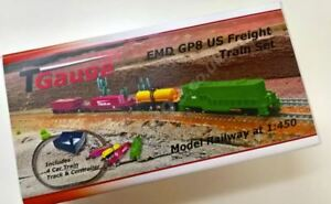 T Gauge EMD GP8 US Freight Train Set Green R-041/EMD-G