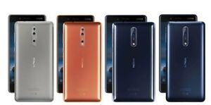 Nokia 8 64GB SIM-Free Smartphone Copper / Tempered Blue / Polished Blue / Steel