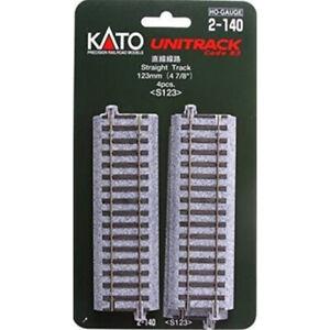 "Kato 2-140 - 123mm (4 7/8"") Straight Track [4 pcs]    - HO Scale"