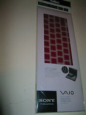 SONY VGP-AMKBL14/V VAIO FLIP PC LAPTOP KEYBOARD PROTECTOR SKIN, BERRY