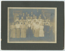 OUTDOOR SCHOOL OR CHURCH GROUP, BOYS IN SUITS/GIRLS IN DRESSES, VINT PHOTO