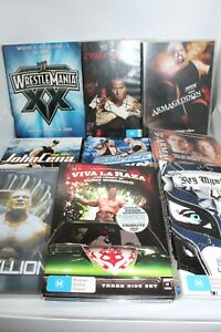 WRESTLING WWE WRESTLEMANIA REGION 4 DVD COLLECTION BULK LOT - FREE POSTAGE