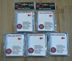 Ultra Pro small Side-Load Pro-Fit Sleeves 500 Hüllen clear 60x87mm für Yu-Gi-Oh!