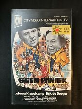Geen Paniek Ex-Rental Vintage Big Box VHS Tape Dutch NL Film Videoband