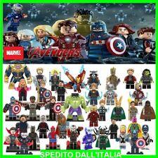 LEGO COMPATIBILI MINIFIGURES MARVEL PERSONAGGI SUPER HEROES AVENGERS SPIDER-MAN