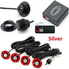 Universal Car Parking Sensors 4pcs 16mm Flat Sensors Reverse Backup Radar Silver