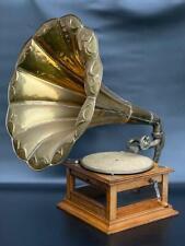 Antik sehr Große Grammophon ! Grammophon mit Trichter ! Original !