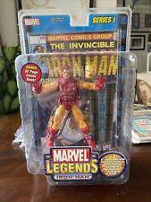 "Marvel Legends Series 1 IRON MAN 6"" Figure Gold Variant 2002 Gold Variant ToyBiz"