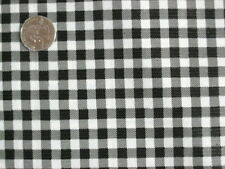 BLACK GINGHAM CHECK KITCHEN PATION DINING OILCLOTH VINYL TABLECLOTH 48x60 NEW