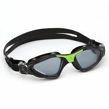 Aqua Sphere Kayenne Swimming Goggles, Smoked Lens - Black Green, Triathlon Goggl