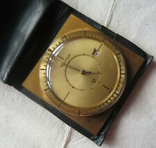 Jaeger LeCoultre Memovox Date pocket watch gold plated case 45 mm. aside