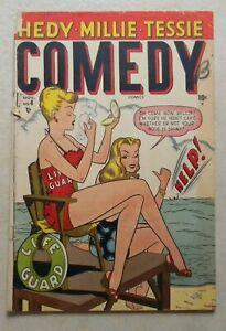 Comedy Comics #4 (1948, Marvel) 2.0 GD OW Original Owner HEDY MILLIE TESSIE