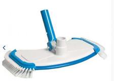 Rectangular vac head for liner pools with side brushes