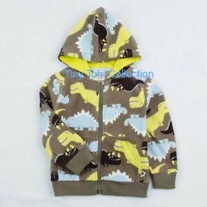 BNWT New with tags boys soft fleece dinosaur hoodie cardigan winter size 4