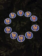 Lot of 10 New York Mets Embroidered Patches Patch Lot Orange & Blue Old Vtg