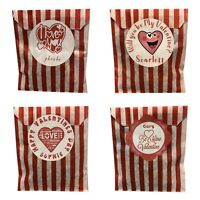 Personalised Happy Valentines Day, Sweet Bags, Favours, Gifts, Presents, DIY