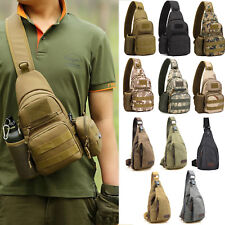 Mens Military Backpack Bike Hiking Cross Body Messenger Shoulder Sling Chest Bag