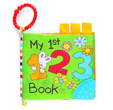 Scholastic My 1st 123 Crinkle Sound Book Plush Toys for Baby Colorful Adventure