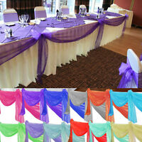 33FT/10M Organza Roll Fabric Wedding Chair Sash Bows Table Runner Party Decor