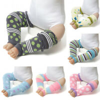 KE_  Boy Girl Leg Warmers Stripe Dots Print Winter Toddler Baby Knee Length So