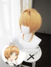 Anime Card Captor Sakura CLEAR CARD Kinomoto Sakura Cosplay Hair Wig New