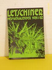 Letschin: Letschiner Heimatkalender 1981/82 - DDR