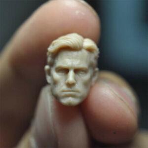 "Blank 1/18 Scale Batman Ben Affleck Head Sculpt Unpainted Fit 3.75"" Figure"