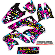 2003 2004 2005 2006 2007 2008 KX 125 250 GRAPHICS KIT NIGHTRIDER: MAGENTA / CYAN