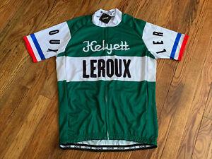 NWT Men's cycling Short Sleeve Helyett Leroux Cycling Jersey Size Medium w/ tags