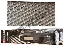 Griglia sportiva rete paraurti auto alluminio cm 120x28 tuning universale FTB