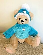 ++ TEDDY CLOTHES ++ new hand knitted jumper & hat for an 8 inch bear