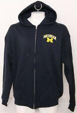 NEW Michigan Wolverines Champion Navy Pockets Full Zip Hooded Jacket Men's 2XL