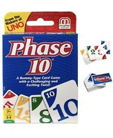Mattel Uno Phase 10 Card Set Playing Card Decks Game  Perfect Family Gift