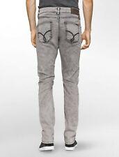 Mens Calvin Klein Sculpted Massa Slim Stretch Jeans Light Grey Wash Msrp $98