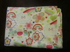 Rainbows Daisy Tulip Flowers Butterfly Extra Large Flannel Receiving Blankets