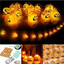 Battery Operated Chasing LED Lights String With Timer Indoor / Outdoor Halloween 3m 40 LEDs Hallowen Pumpkin Warm Light