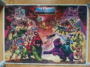 Vintage Original 1984 Masters Of The Universe He-Man Poster William George 80s
