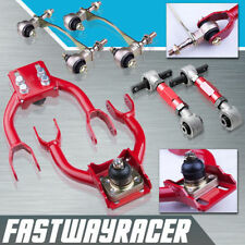 DC2 EG D15 B16 B18 B20 Red Front and Rear Camber Kit +Bushing Kit Suspension Arm